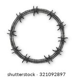 crown with barbed wire   Shutterstock .eps vector #321092897