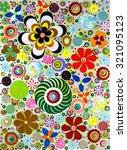 Abstract Colourful Art  Acryli...