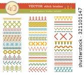 vector set of seamless stitch... | Shutterstock .eps vector #321101147