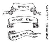 vector hand drawn vintage...   Shutterstock .eps vector #321101297