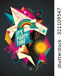 colorful party background with... | Shutterstock .eps vector #321109547