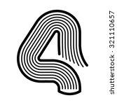 book font  number 4 | Shutterstock .eps vector #321110657