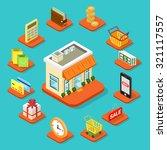 shop store building infographic ...