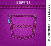 Jeans Purple Texture With...