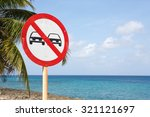 no overtaking sign with blue... | Shutterstock . vector #321121697