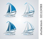 yacht vector icon collection.... | Shutterstock .eps vector #321124583