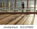 woman standing near large... | Shutterstock . vector #321129683