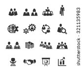 meeting and business icons... | Shutterstock .eps vector #321135983