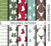 christmas vector pattern ... | Shutterstock .eps vector #321149813