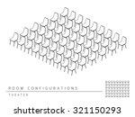 meeting room setup layout... | Shutterstock .eps vector #321150293