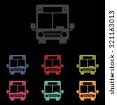 bus icon set. illustration | Shutterstock . vector #321163013