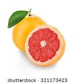 grapefruits isolated on white... | Shutterstock . vector #321173423