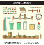set of objects to create a... | Shutterstock . vector #321179123