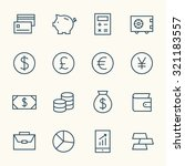 finance icon set | Shutterstock .eps vector #321183557
