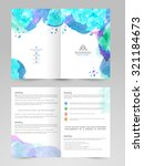 creative professional brochure  ... | Shutterstock .eps vector #321184673