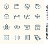 box icon set | Shutterstock .eps vector #321185603