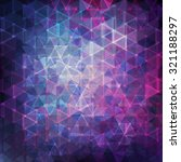blue and purple triangle mosaic.... | Shutterstock .eps vector #321188297