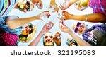 beach cheers celebration... | Shutterstock . vector #321195083