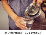 drink water | Shutterstock . vector #321195527