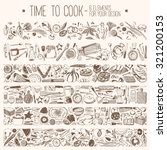 time to cook   set elements for ... | Shutterstock .eps vector #321200153