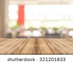 wooden board empty table in... | Shutterstock . vector #321201833