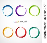 color circles set | Shutterstock .eps vector #321204377