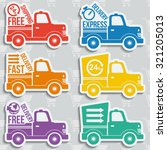 free delivery  fast delivery ... | Shutterstock .eps vector #321205013