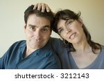 portrait of a man and woman  ... | Shutterstock . vector #3212143