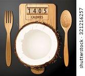 vector of calories in coconut | Shutterstock .eps vector #321216257