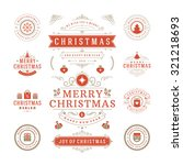 christmas labels and badges... | Shutterstock .eps vector #321218693