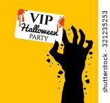 zombie hand holding invite vip... | Shutterstock .eps vector #321235253