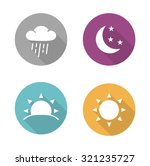 times of day flat design icons... | Shutterstock .eps vector #321235727