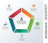 vector infographic pentagon...   Shutterstock .eps vector #321237077