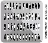 vector set.woman silhouettes... | Shutterstock .eps vector #321238253