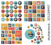 flat concept design with shadow ... | Shutterstock .eps vector #321239957