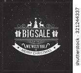 christmas sale design set  ... | Shutterstock .eps vector #321244337