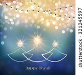 happy diwali festive background ...   Shutterstock .eps vector #321245597