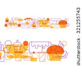 fast food pattern and... | Shutterstock .eps vector #321255743