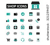shop  ecommerce icons | Shutterstock .eps vector #321259457