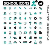school icons | Shutterstock .eps vector #321259487