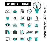 work at home  freelance icons | Shutterstock .eps vector #321259517
