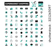 supermarket  shopping  retail... | Shutterstock .eps vector #321265097