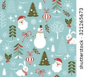 seamless christmas pattern | Shutterstock .eps vector #321265673