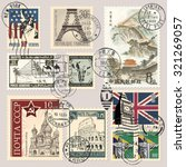 postage stamps | Shutterstock .eps vector #321269057