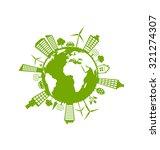 illustration green futuristic... | Shutterstock . vector #321274307