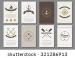 set of  nautical brochures in... | Shutterstock .eps vector #321286913