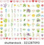 set of wedding graphic set ... | Shutterstock .eps vector #321287093