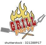 grill barbecue menu symbol ... | Shutterstock .eps vector #321288917