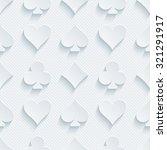 card suit 3d seamless... | Shutterstock . vector #321291917