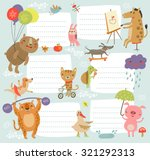 cute kids background | Shutterstock .eps vector #321292313